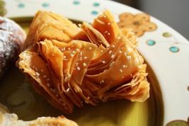 Pastelitos criollos filled with membrillo (quince paste)