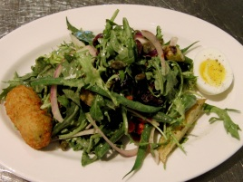 Niçoise salad with farm egg, pommes croquette; lemon-thyme vinaigrette