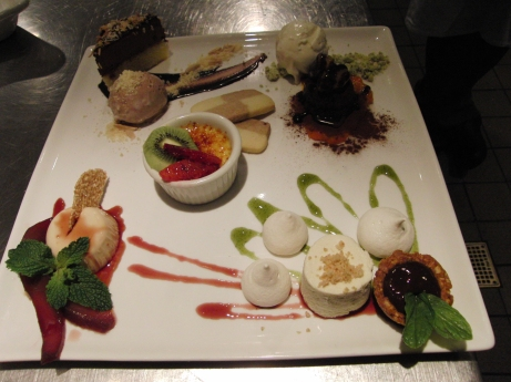 "Grand dessert for two: A sampling of our desserts ""en miniature"""