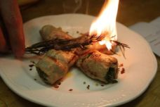 Bracioletta ripiena di maiale (Italy) - Grilled pork rolls stuffed w/pecorino cheese, pancetta, sauteed garlic