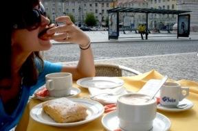 Pasteis de nata and coffee in Lisbon