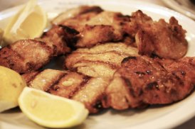 Mollejas grilled with lemon