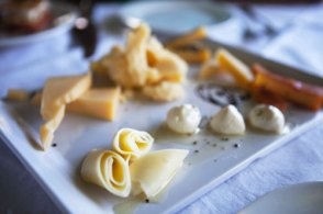 An assortment of cheeses at a brilliant restaurant in Uruguay
