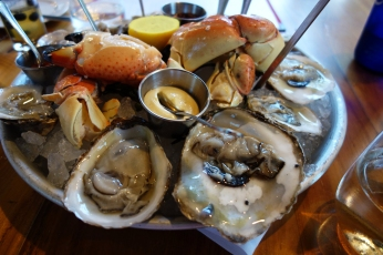 Stone Crab and Oysters at The Dutch