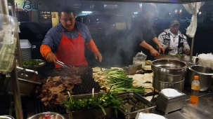 Mexican tacos on the streets of Tijuana