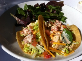 Fish tacos at Top of the Market Restaurant