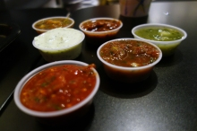 Sauces at Lucha Libre Gourmet Taco Shop in Mission Hills