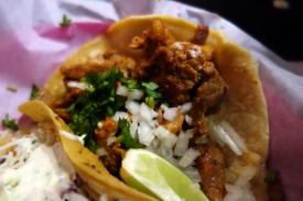 Adobado Taco at Lucha Libre Gourmet Taco Shop in Mission Hills