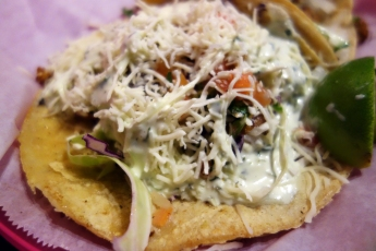 Undefeated seafood burrito Lucha Libre Gourmet Taco Shop in Mission Hills