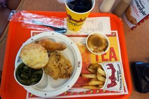 Bojangles fried chicken in North Carolina