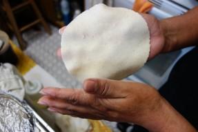 Handmade Mexican tortillas at a Pueblan home in DC