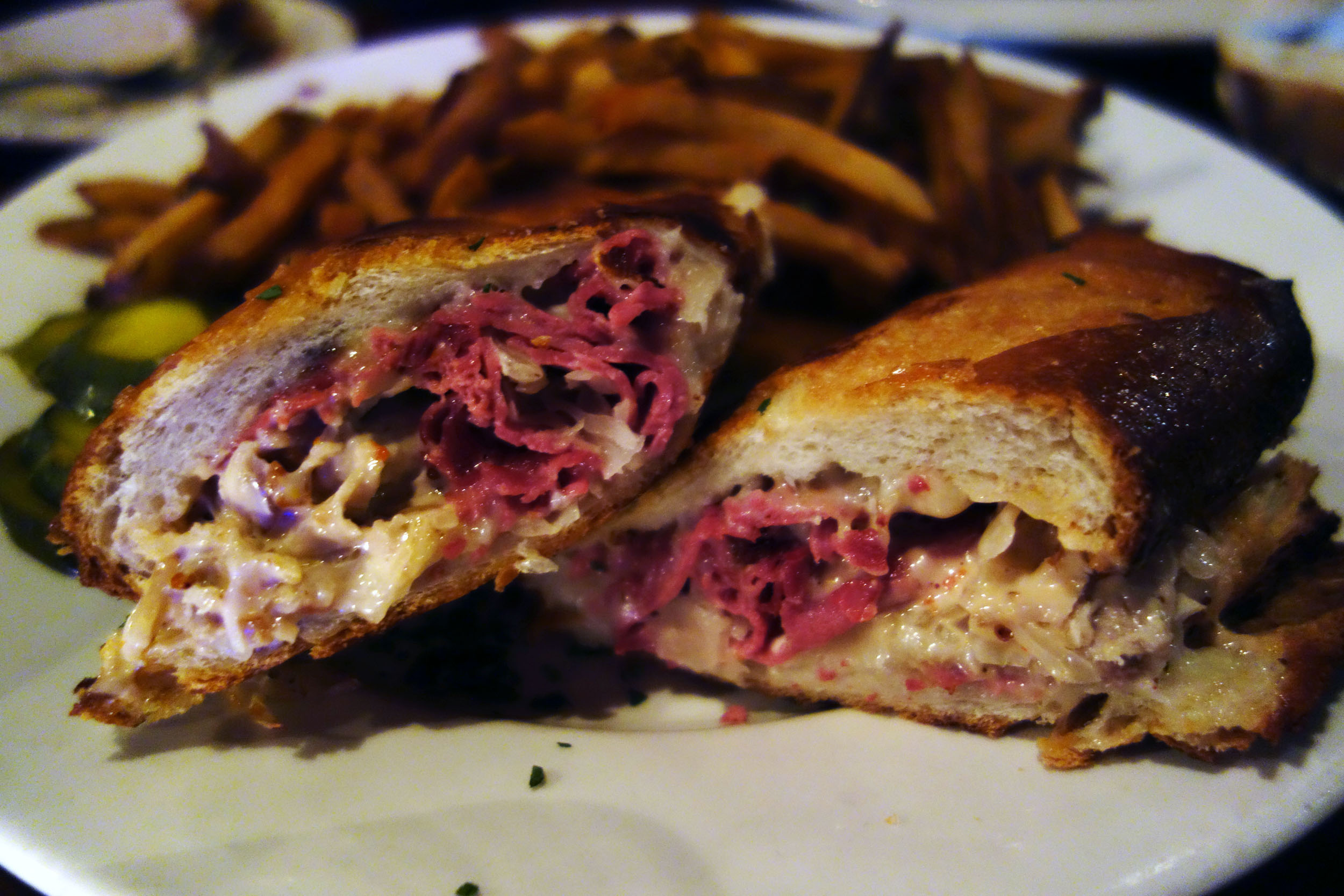 to share we also got the cuban reuben somewhat of a signature at highland kitchen a combination of two sandwiches i adore and a clever combination at - Highland Kitchen