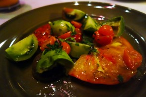 Heirloom Tomato and Avocado Salad at Chez Panisse