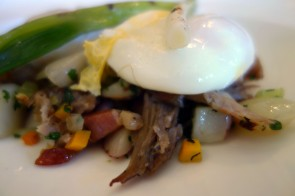 Duck Confit & Potato Hash at The Girl and the Fig