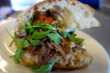 Beef Brisket Sandwich at Il Carne Rosso in the Ferry Building Marketplace