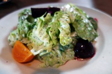 Blue Heron Farm Little Gems with Green Goddess Dressing and Pickled Beets at Boots n Shoe
