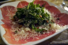 Beef Carpaccio at MUA in Oakland