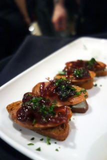 *House Smoked Chorizo with Whipped Blue Cheese and Onions, Served on Crusty Bread