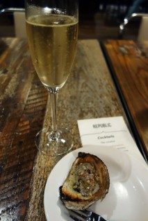 Oysters and Champagne on Opening Night
