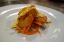 Tempura Shrimp with Carrot and Daikon Slaw