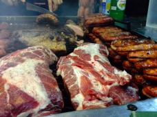 Typical asador outside River Plate stadium