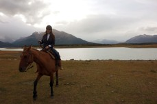 Riding around on a horse