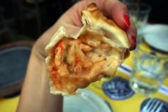 A little shrimp empanada
