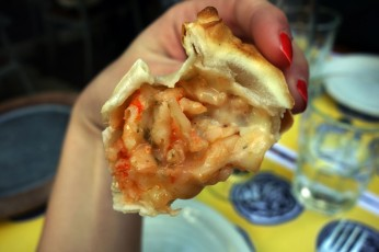 A little shrimp empanada