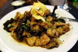 Lamb sweetbreads and mushrooms