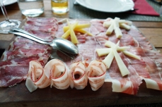 Breseola, prosciutto and pancetta in wine country