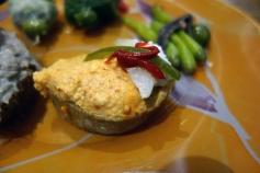 Red pepper spread pintxo at Casa Bartolo