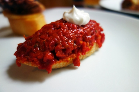 Roasted pepper pintxo