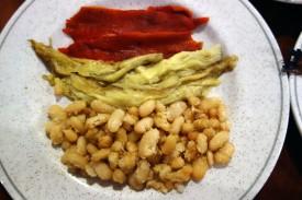 Escalivada and mongetes white beans at La Venta