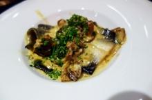 Amazing eel dish at Els Brots in Poboleda