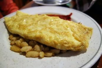 Omelet on mongetes at La Venta