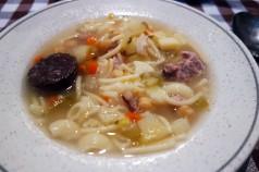 Escudella soup at La Venta