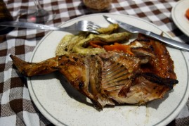 Grilled rabbit and escalivada at La Venta