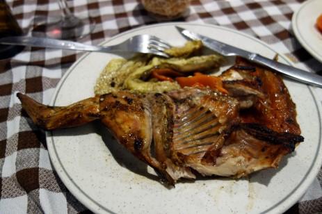 Grilled rabbit and escalivada at La Venta