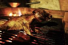 Home grilled rabbit