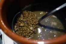 Lentil stew at La Venta