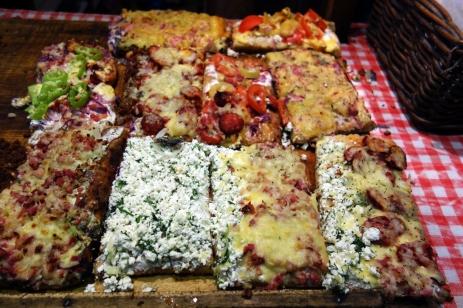 Kemence lángos, the Hungarian pizza