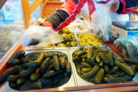 Pickles in a market