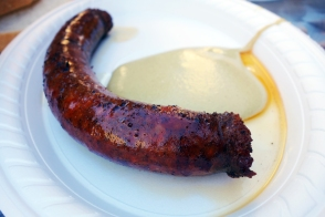 Country sausage with mustard