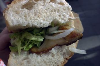 Balik ekmek (fish sandwich), a very popular snack.