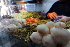 Turkish pickles at a market