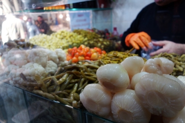 Turkish pickles at a market