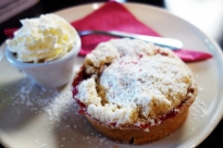 Strawberry-rhubarb tart at Le Petit Délice in Galway