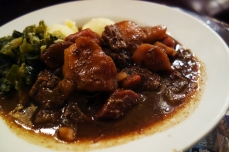 Beef & Guinness Stew at O'Neill's Bar & Restaurant in Dublin