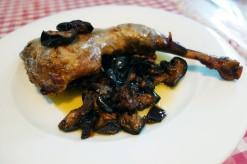 Guinea fowl with eggplant at La Cooperativa in Porrera