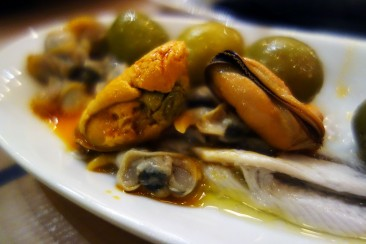 Pickled things, mussels at Museu del Vermut in Reus